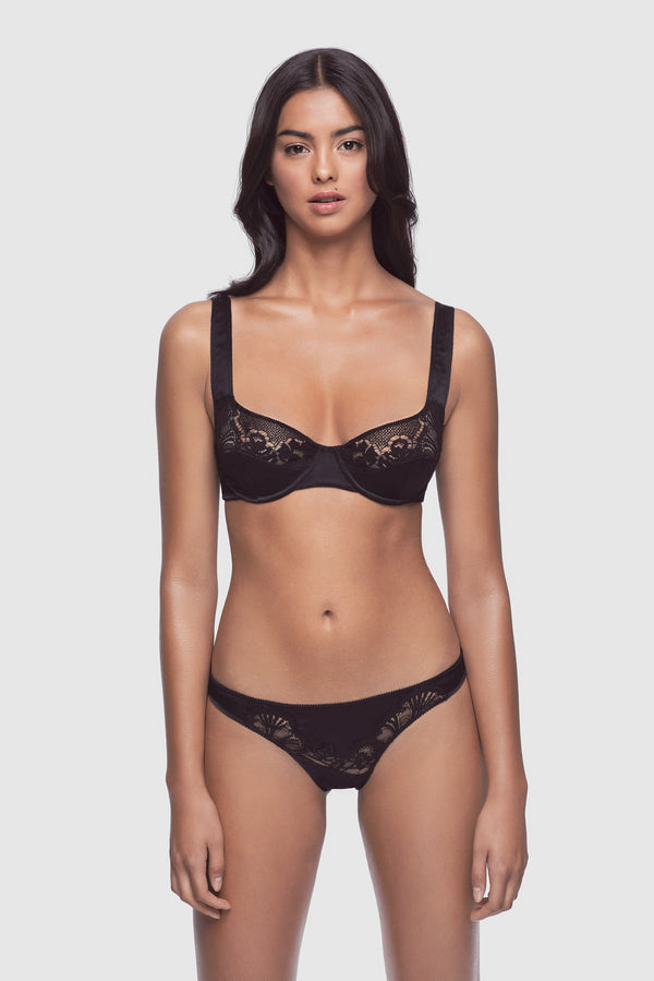 Perfect Lounge Balconette Bra Black - Kiki de Montparnasse