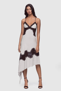 Perfect Lounge Slip Dress Whisper/Black - Kiki de Montparnasse