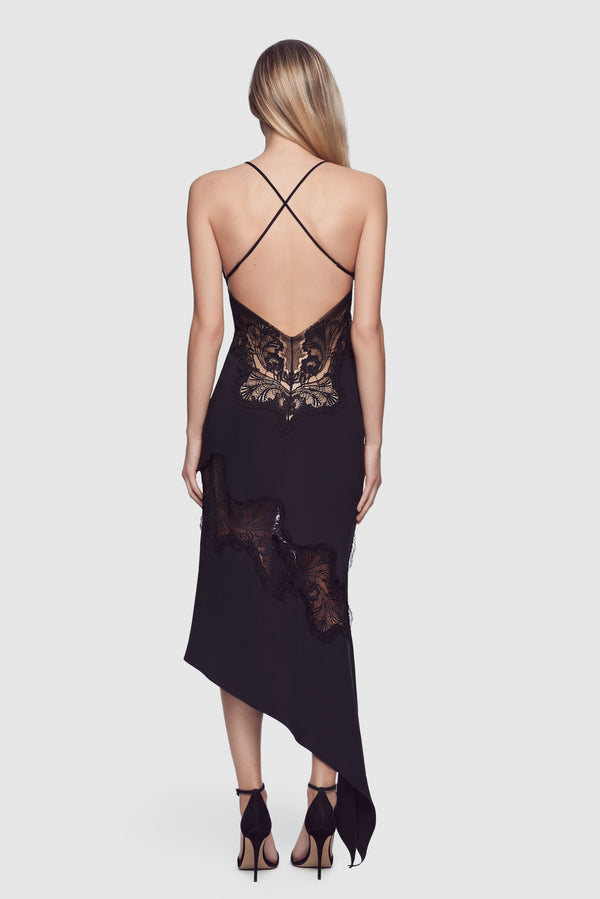Perfect Lounge Slip Dress Black - Kiki de Montparnasse