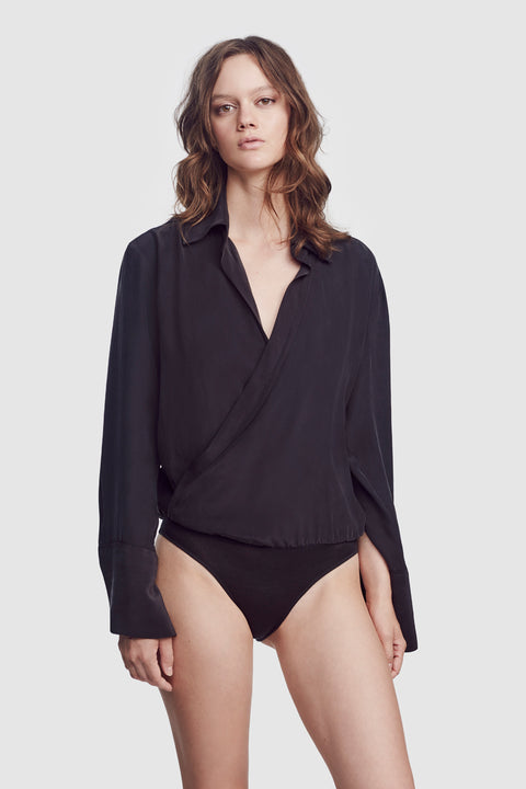 Wrap Bodysuit Black