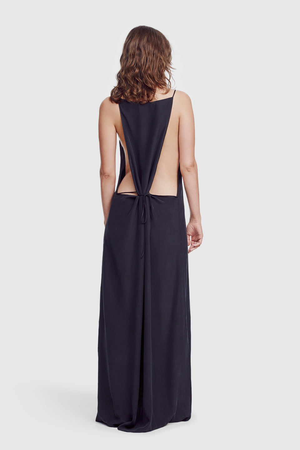 Amour Square Neck Long Slip Black - Kiki de Montparnasse