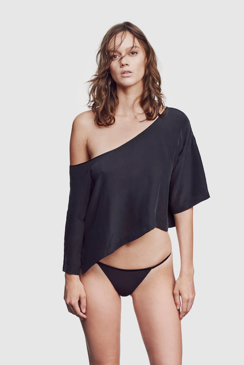 Amour Off Shoulder Top Black