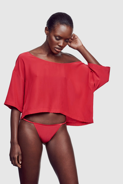 Amour Off Shoulder Top Vermillion