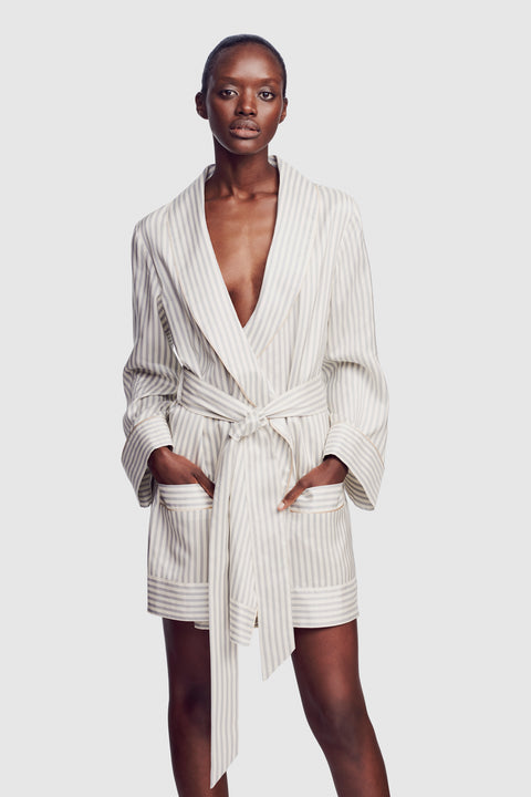 Silk Stripe Robe
