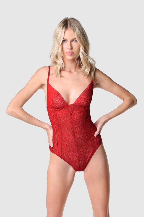Bandage Bodysuit Red