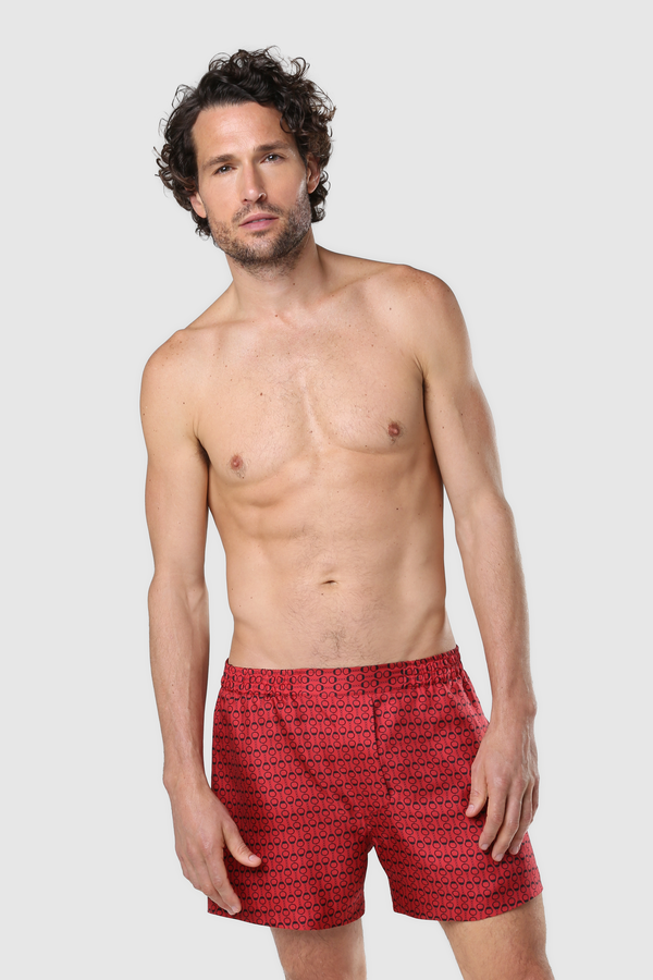 UNISEX SILK BOXERS RED