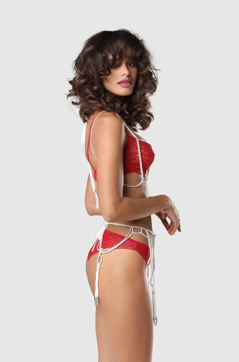 Bandage Demi Bra Red