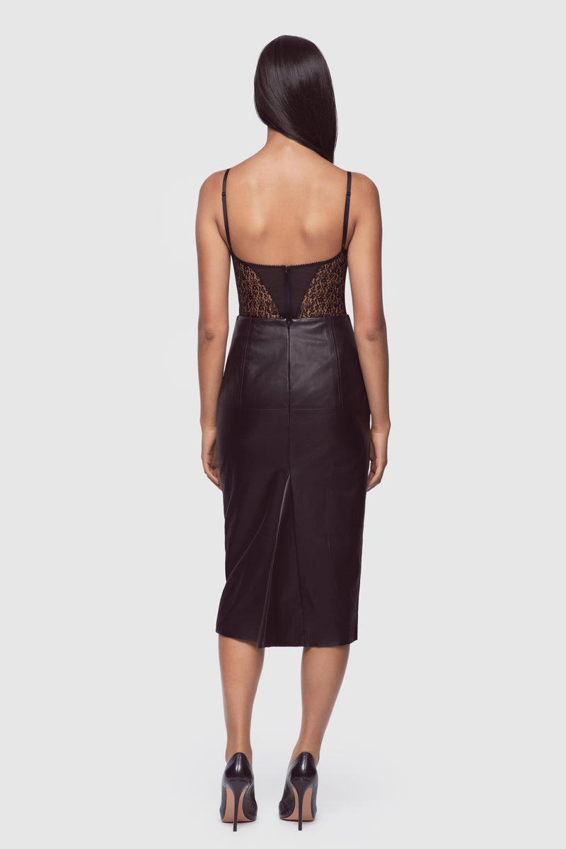 Leather Bustle Skirt
