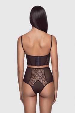 Tiger Lily High Waisted Panty Black - Kiki de Montparnasse