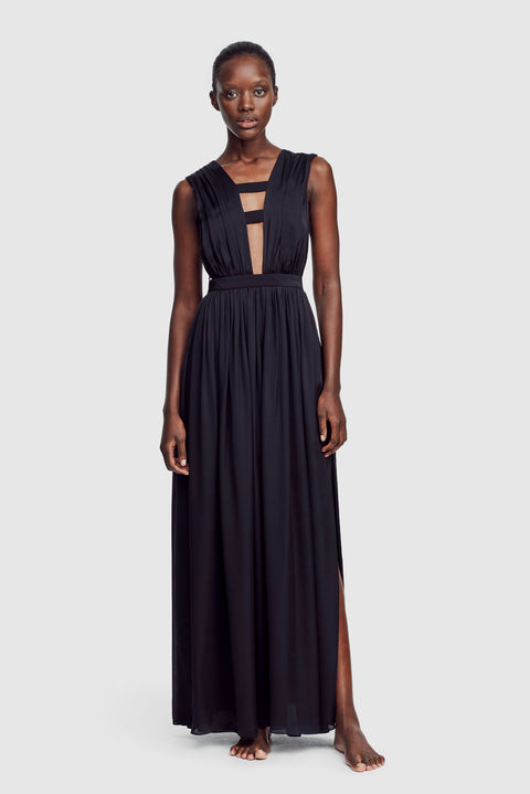 Cage Gown Black