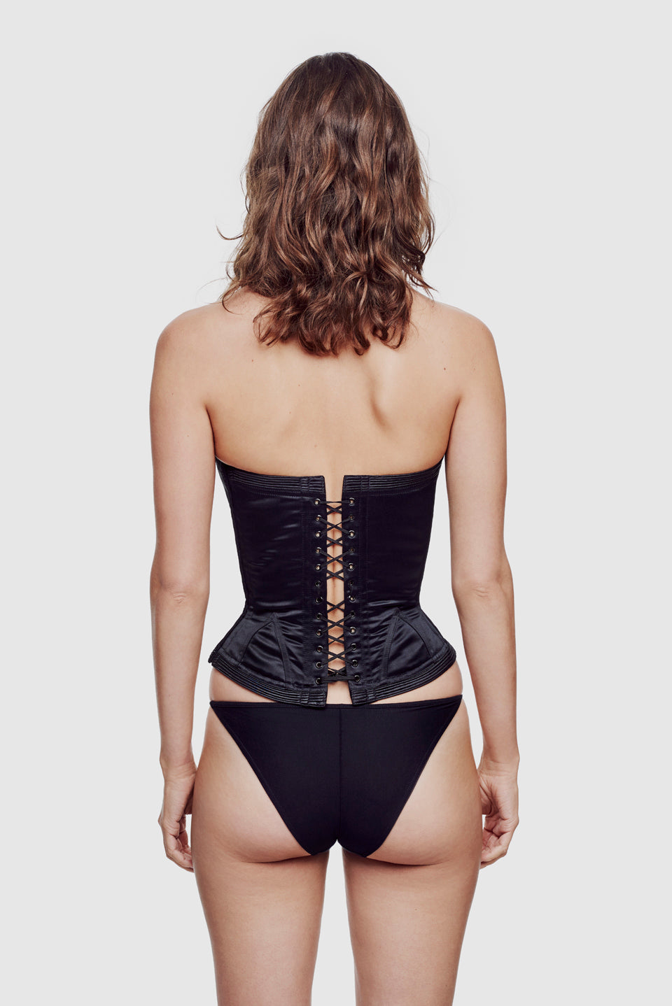 Cadolle Vic Satin Corset Black