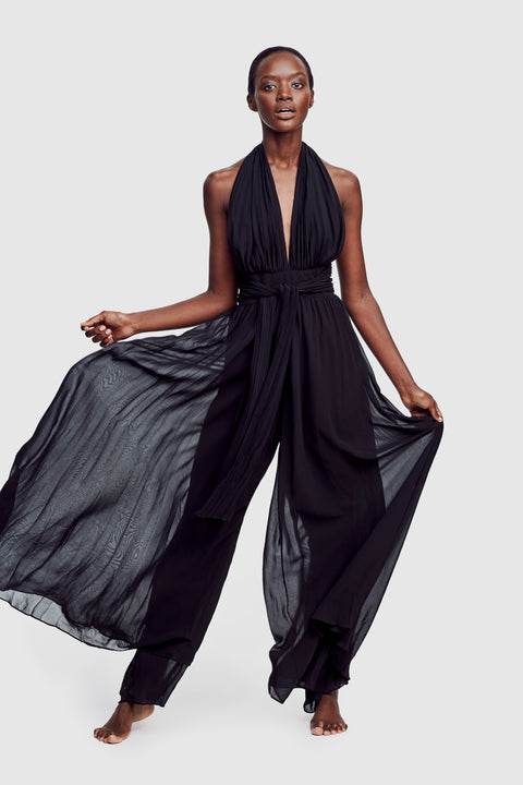 Pleated Jumpsuit Black