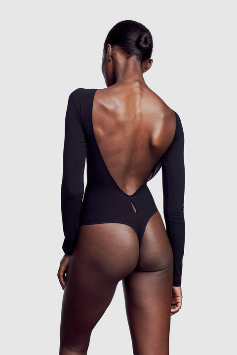 Backless Bodysuit Black