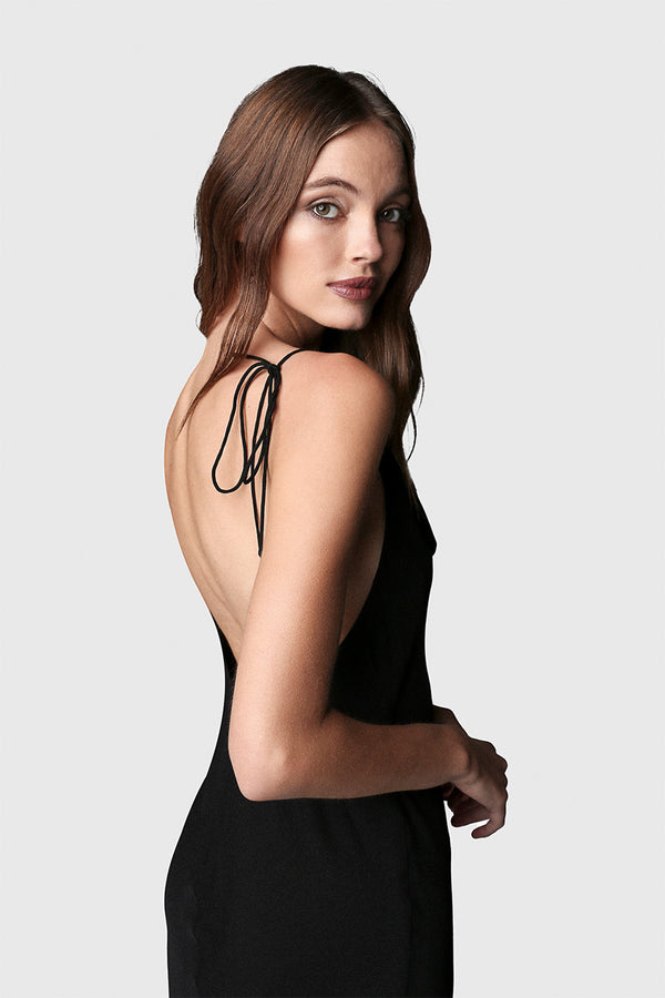 Simple Slip Dress Black