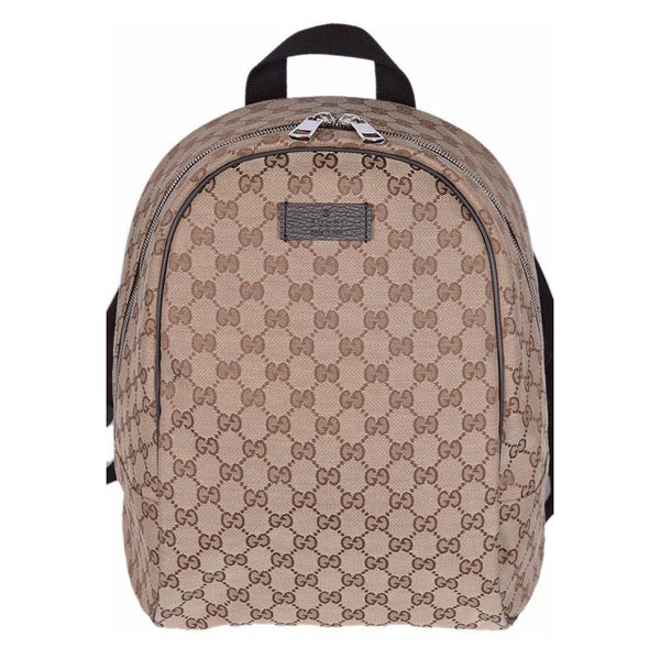GUCCI GG Guccissima Backpack Rucksack Travel Bag (Beige/Brown) - Retail Basis
