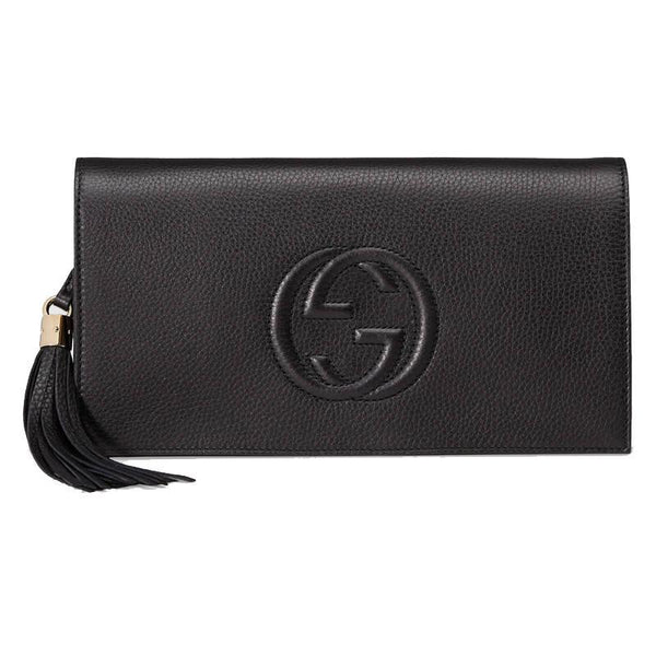 Gucci Women's Black GG Soho Clutch - Retail Basis