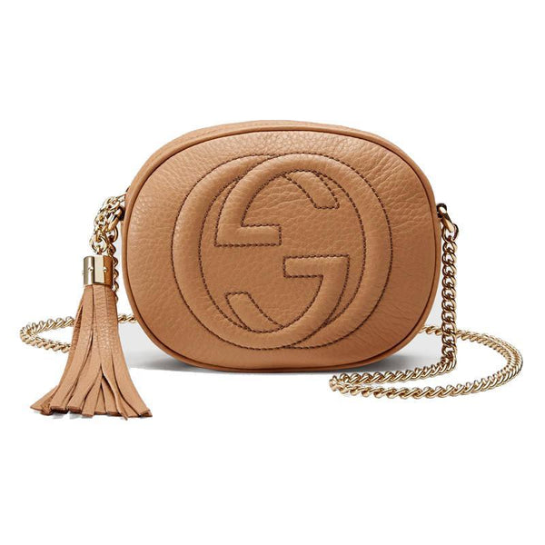 Gucci Women's Camelia Beige Soho Mini Crossbody - Retail Basis