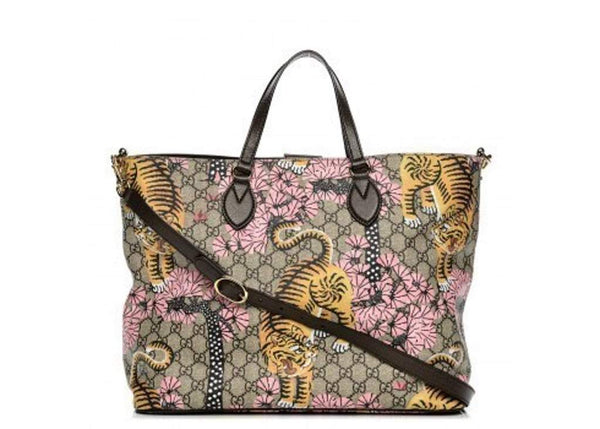 Gucci Women's GG Supreme St. Bengal Shopping Tote - Retail Basis