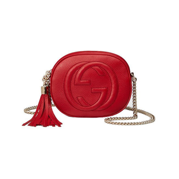 Gucci Women's Red GG Soho Mini Crossbody - Retail Basis