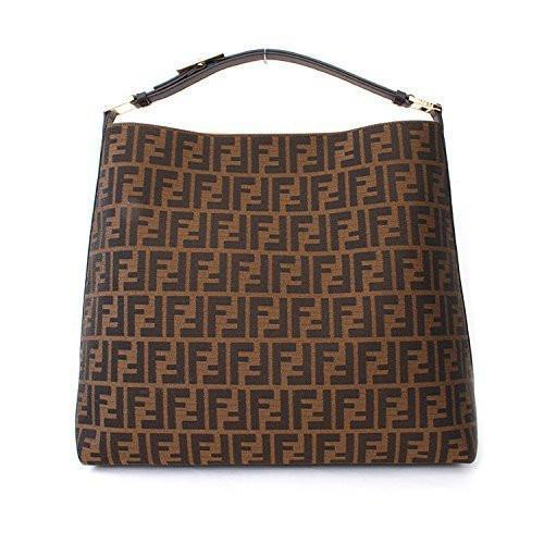Fendi Zucca Brown Leather Borsa Hobo Bag - Retail Basis