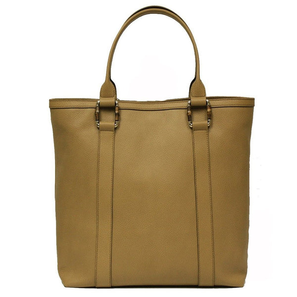 GUCCI Bamboo Top Handle Tan Leather Tote Bag LARGE - Retail Basis