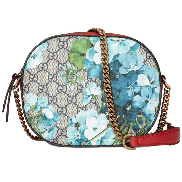 Gucci Blooms GG Supreme Chain Shoulder Handbag - Retail Basis