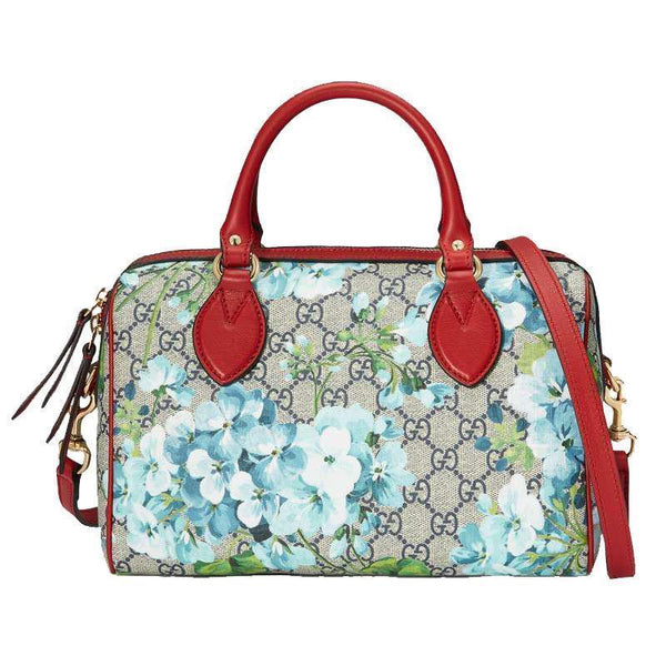 Gucci Blooms GG Supreme Small Boston Handbag - Retail Basis