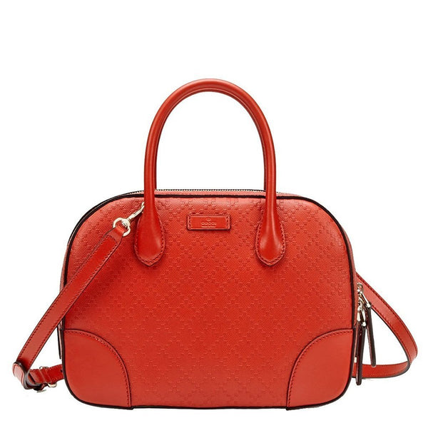 GUCCI Bright Diamante Burnt Orange Leather Top Handle Bag - Retail Basis