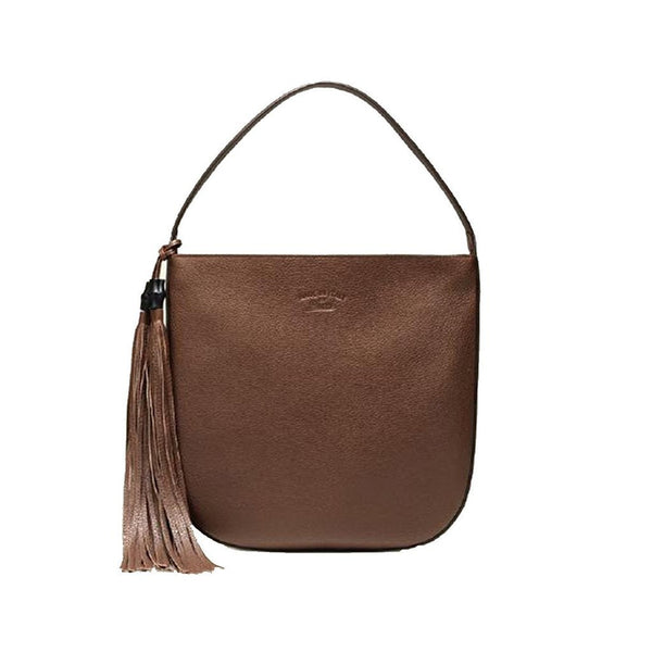 Gucci Lady Tassel Leather Hobo Shoulder Bag, Brown - Retail Basis