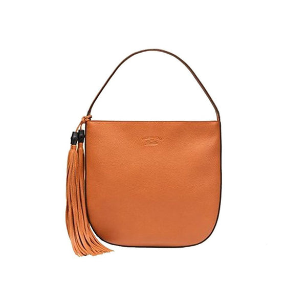 Gucci Lady Tassel Leather Hobo Shoulder Bag, Orange - Retail Basis