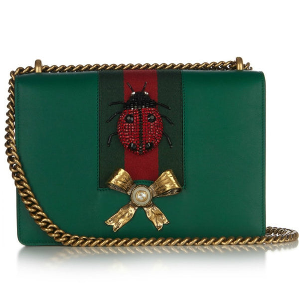 Gucci Ladybug Leather Chain Shoulder Bag - Retail Basis