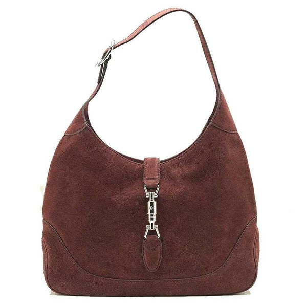 Gucci New Jackie Suede Hobo Shoulder Bag, Red - Retail Basis