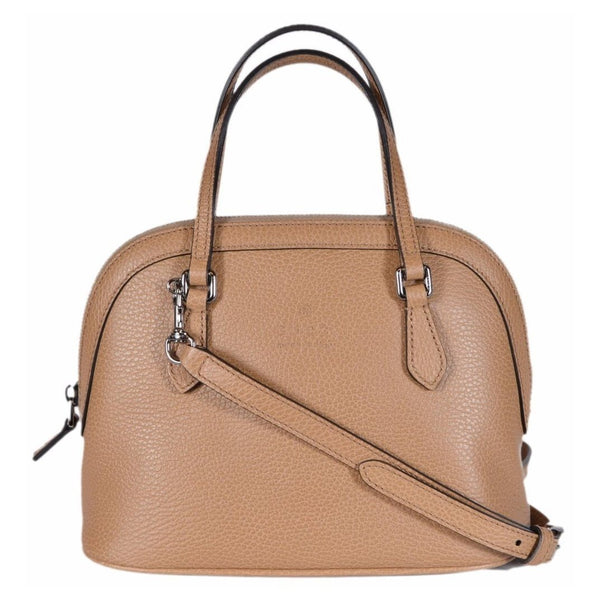 Gucci Women's Leather Convertible Mini Dome Bag Whiskey Beige - Retail Basis