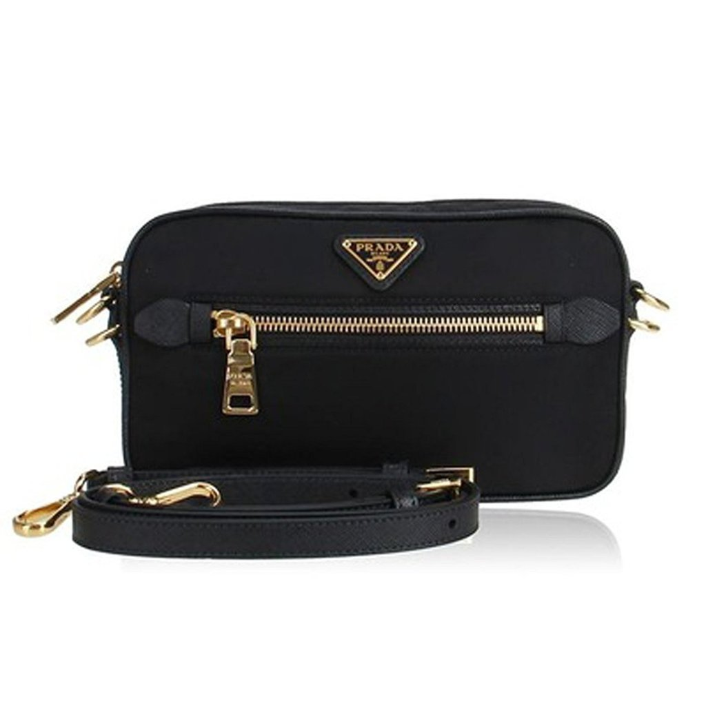 34cc34600694 ... denmark prada nero tessuto saffian black nylon crossbody shoulder bag  retail basis f430b 200ea
