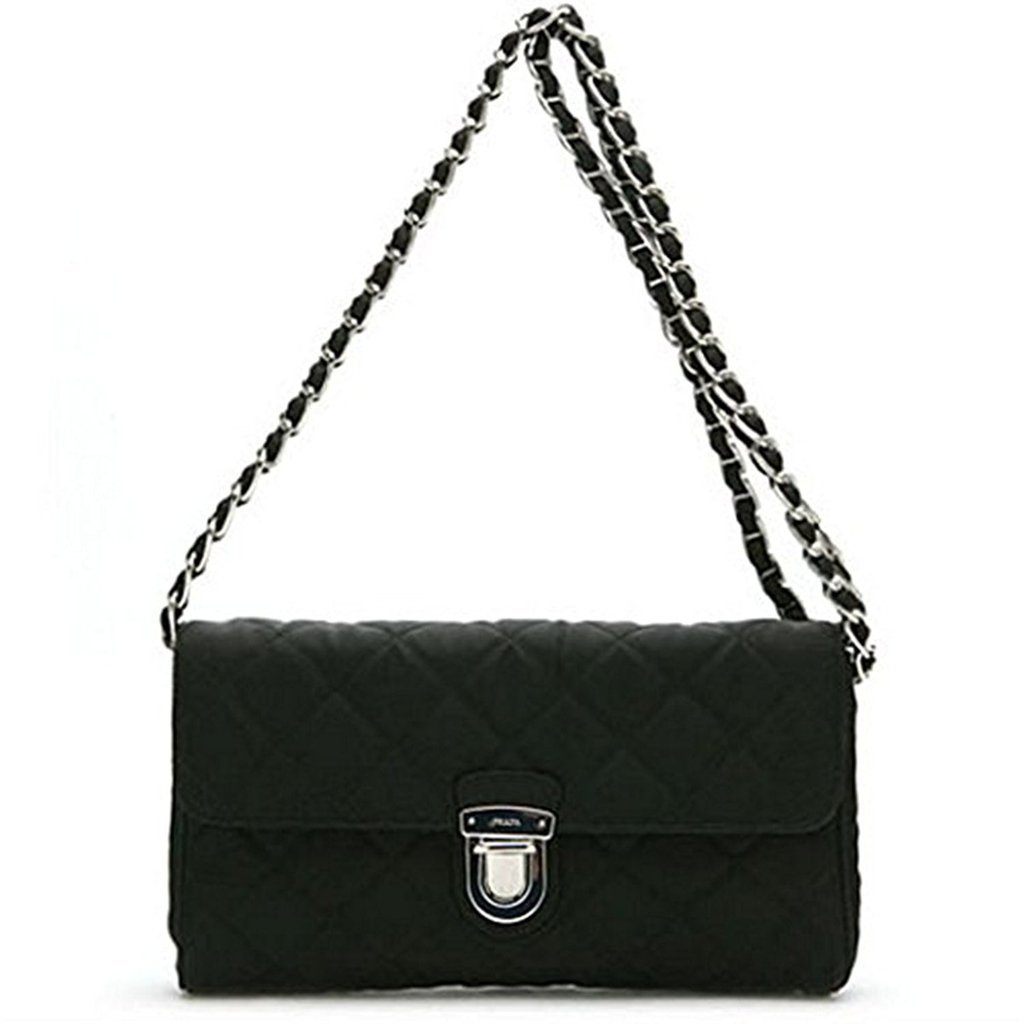 f5075fd979ca ... discount code for prada tessuto impuntu bandoliera quilted nylon  shoulder bag retail basis 5db68 1c928