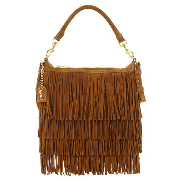 Saint Laurent 'Emmanuelle' Small Suede Fringe Hobo Bag - Retail Basis