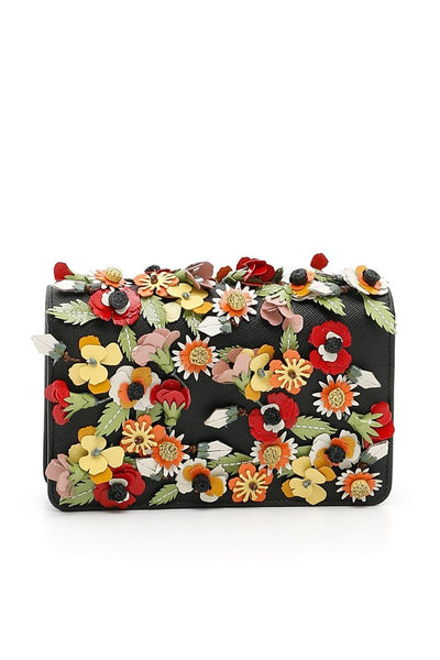 Prada Saffiano Garden Floral Crossbody Bag - Retail Basis
