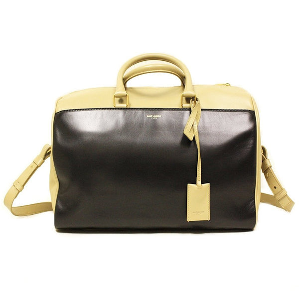 Saint Laurent 12 Hour Duffle Bag in Two Tone Calfskin Leather - Retail Basis