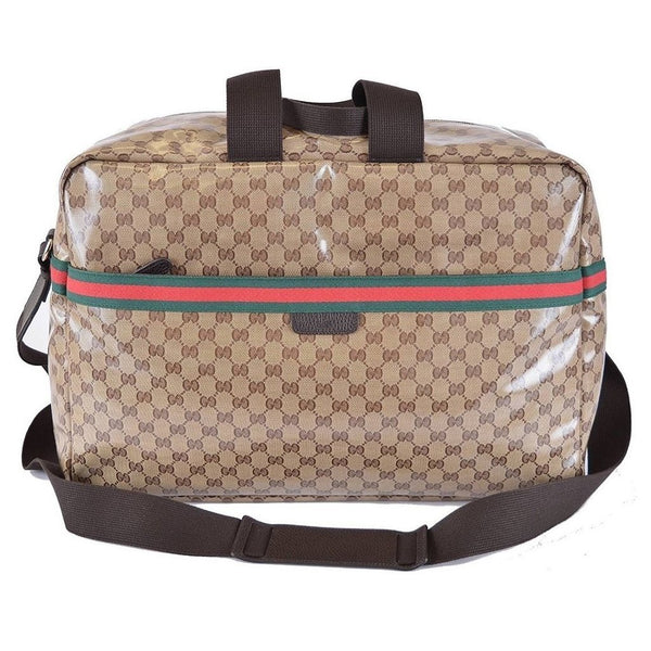 Gucci 374770 Gucci Xl Web Duffle Gg Logo Unisex Travel Bag - Retail Basis