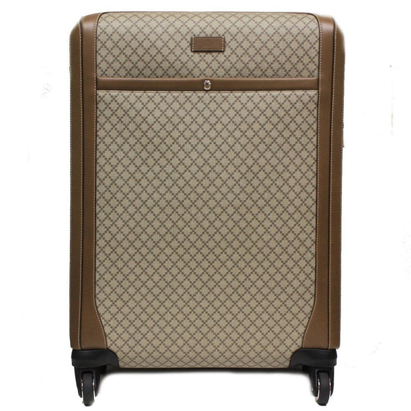 Gucci  Wheel Brown Supreme Canvas Carry-On Suitcase Luggage Large - Retail Basis