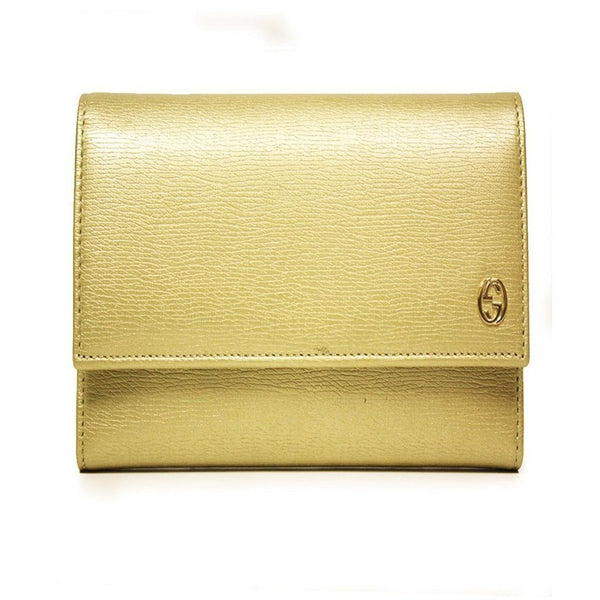 GUCCI 'Betty' Continental French Flap Leather Wallet - Retail Basis