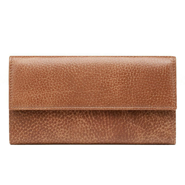 GUCCI  Women's Interlocking G Brown Leather Continental Wallet - Retail Basis