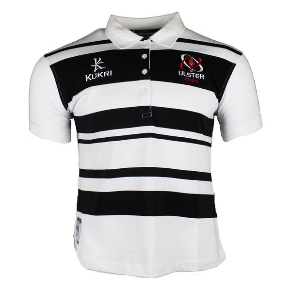 Kukri Ulster Rugby Ladies Athletic Fit Yarn Dye Polo 17/18 - White