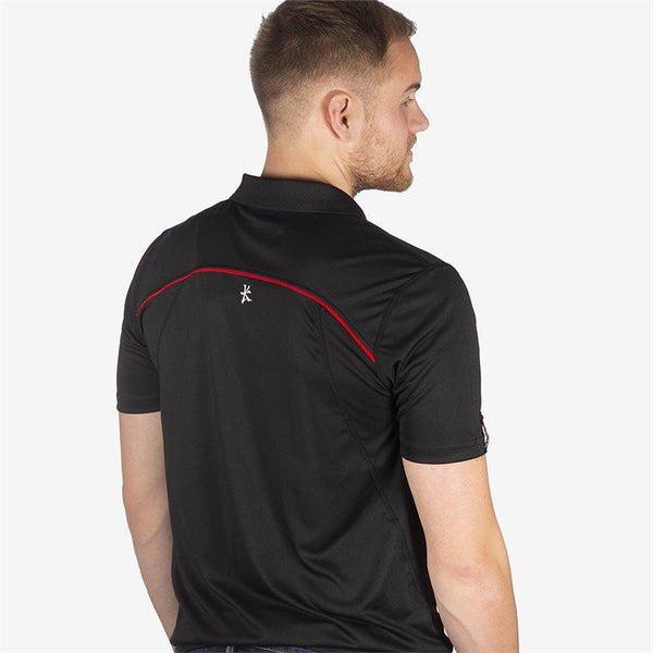 Ulster Rugby 18 Performance Athletic Fit Polo - Black