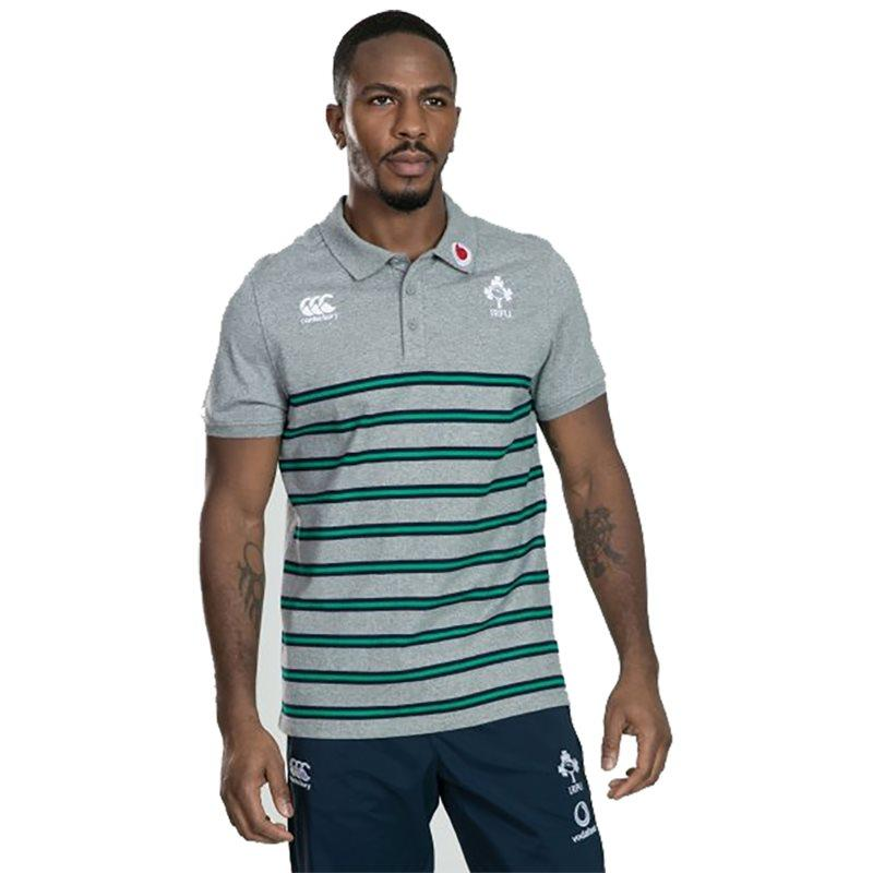 Ireland Rugby Cotton Stripe Polo