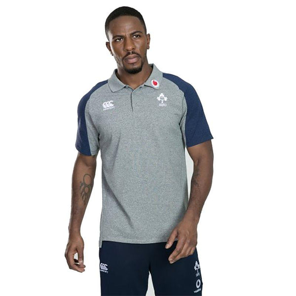 Canterbury Ireland Rugby Vapodri Cotton Pique Polo - Grey
