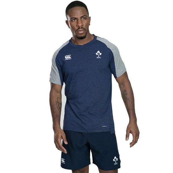 Canterbury Ireland Rugby Vapodri Cotton Tee - Blue / Marl