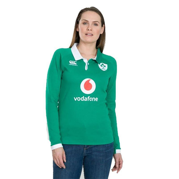 Canterbury Ireland Rugby Vapodri LS Ladies Home Jersey - Bosphorus
