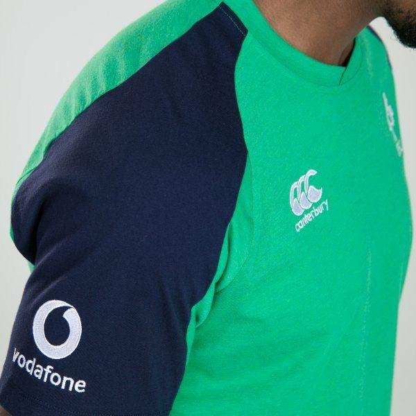 Ireland Rugby Vapodri Cotton Training Tee - Green Marl