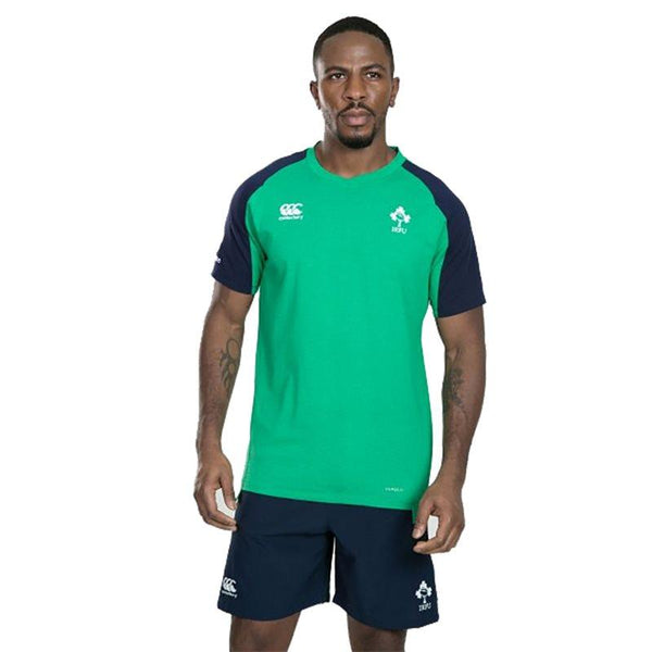 Canterbury Ireland Rugby Vapodri Cotton Training Tee - Green Marl